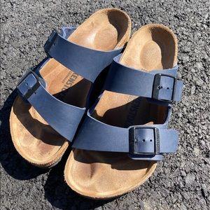 Like new blue Birkenstock sandals. Size 36